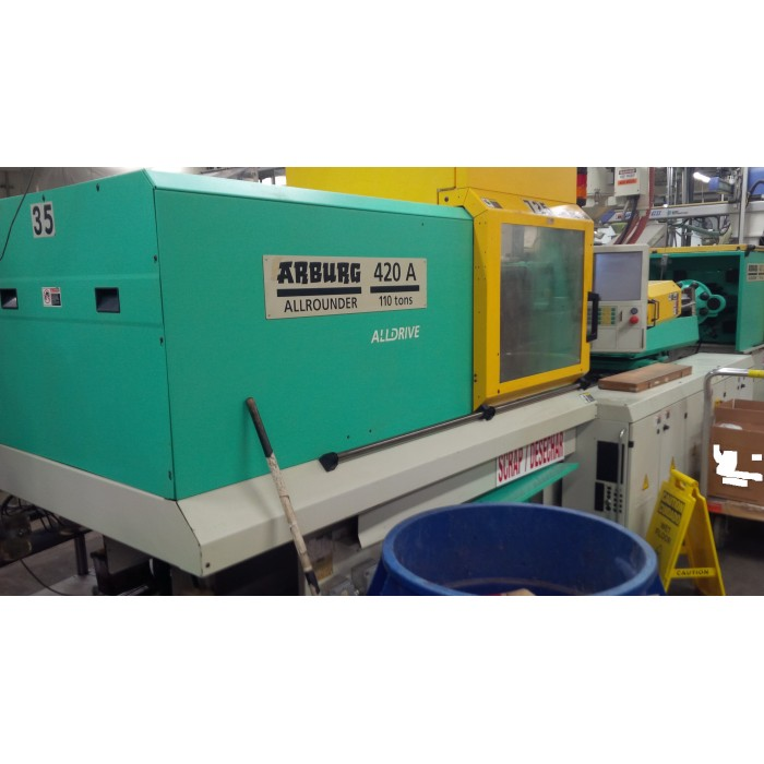 ARBURG 110-TON ALL-DRIVE ELECTRIC PLASTIC INJECTION MOLDING